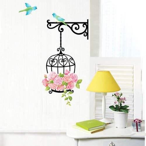 Birdcage wallpaper for kids rooms sofa bedroom house for Birdcage bedroom ideas