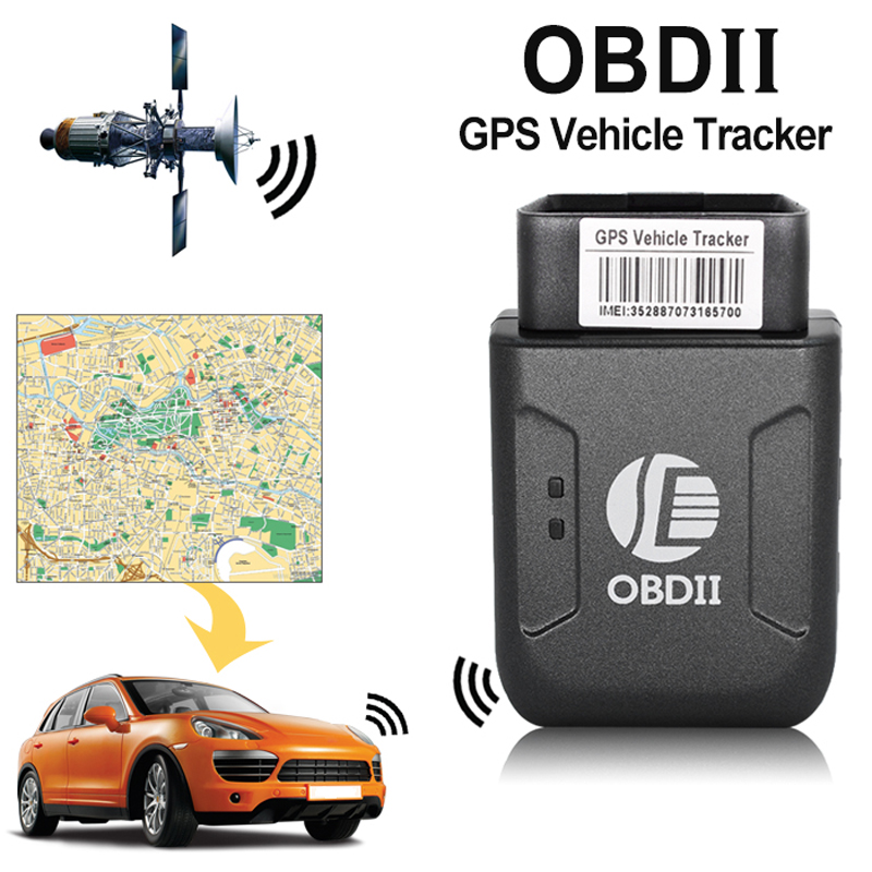 5pcs a lot GPS TK206 OBD 2 Real Time GSM Quad Band Anti theft Vibration Alarm GSM GPRS Mini GPRS Car Tracker
