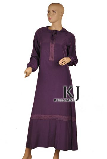 Cheap Sale Muslim Women Dress Islamic Dresses Muslim Women Dress Rayon Fabric Thobe Ladies Kaftan Islamic Abaya For All Seasons Kj-wab4009 Ample Supply And Prompt Delivery Traditional & Cultural Wear Novelty & Special Use