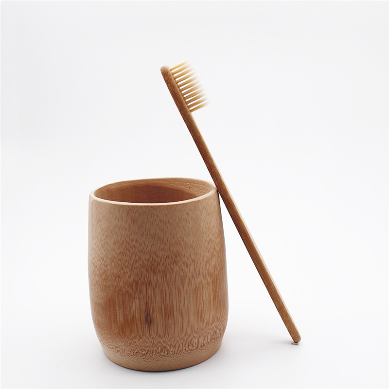 Tooth cleaning Bamboo Toothbrush Khaki Soft bristles tandenborstel Fibre Wooden Handle Low carbon Environmentally Toothbrush image