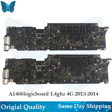 Original A1466 Logic board for Macbook Air 13' Motherboard  1.4ghz  i5 4G Mainboard Year 2013-2014 for apple macbook motherboard 13 laptop a1342 logic board 2 4ghz core 2 duo p8600 820 2877 b 661 5640 emc 2395