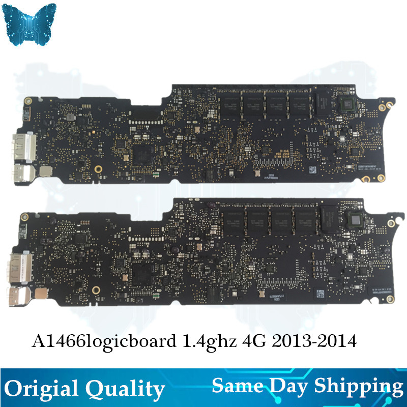 Original A1466 Logicboard for Macbook Air 13' Motherboard 1.4ghz i5 8G Mainboard Year 2013 2014