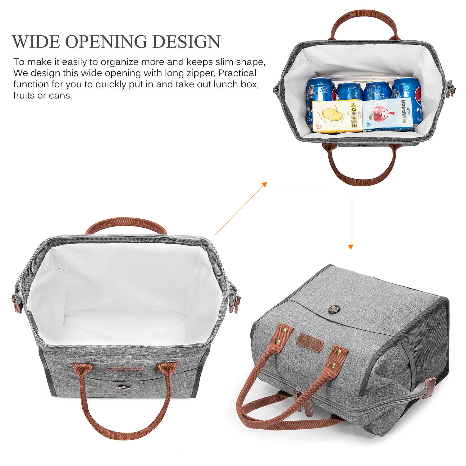 2019 New Thermal Insulated Lunch Box Portable Lunch Bag Tote