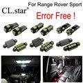 24 unids canbus free error interior bombilla LED paquete de kit de luz para Land Rover Range Rover Sport para (2005-2013)