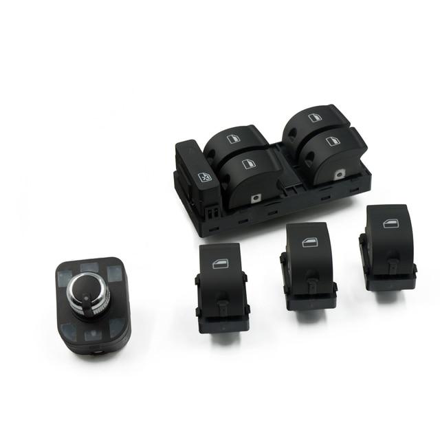 Power Electric Master Window Mirror Control Switch 5PCS/SET For AUDI A4 S4 B6 B7 RS4 SEAT Exeo 8E0959851 8E0959855 4F0 959 565mirror control switch4f0 959 565mirror control