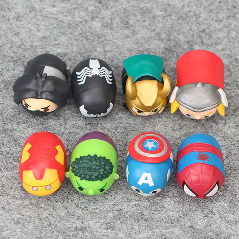 8pcs lot NEW The Avengers Super Heroes figure Toys Spiderman Ironman Plastic PVC Action Figures Gifts Toys Children Fun Toys in Action Toy Figures from Toys Hobbies