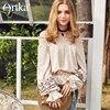 Artka Spring New Women S Slash Neck Vintage Retro Ethnic Floral Embroidery Flare Sleeve Blouse SA10586C