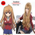 Fashion Toradora Taiga Aisaka Cosplay Wigs Blonde Long Curly Wavy Lolita Wigs Perruque Synthetic Women Pelucas Cosplay Perucas
