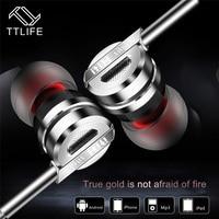 TTLIFE Verdrahtete Kopfhörer D05 Weiche Silikon Sport Headset Musik Stereo In-ohr-headset Mit Mic für Android Phone Xiaomi