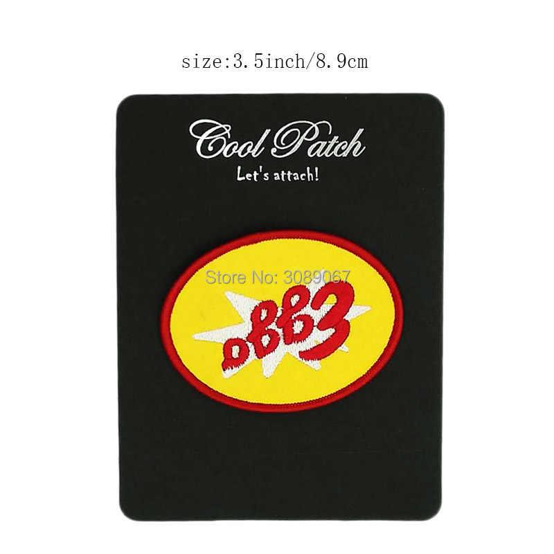 """3.5 """"Coisas Estranhas Waffles Eggo Manchas Logotipo Série de TV do Filme do Filme Traje Applique Bordado ferro no Traje Cosplay 9 cm"""