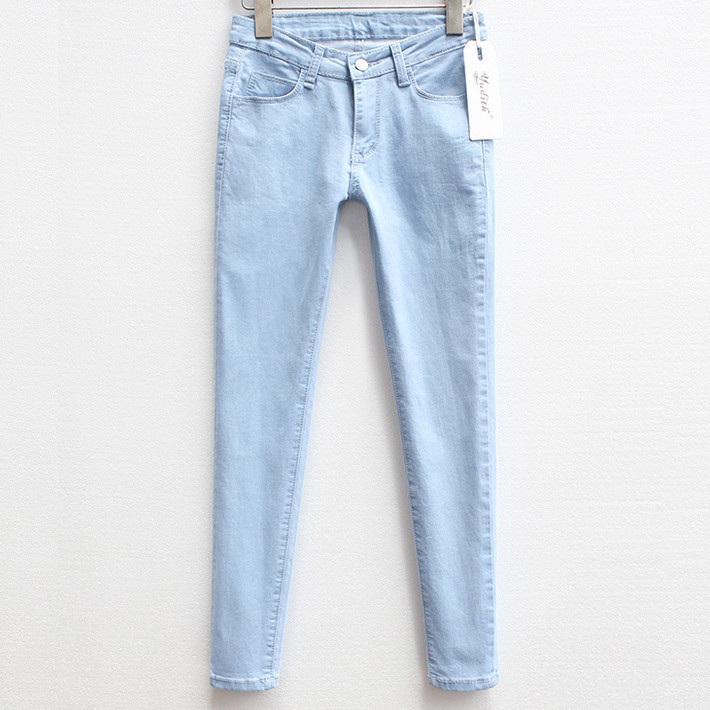 Aliexpress.com : Buy Cute Women Pencil Pants Full Length Washed ...