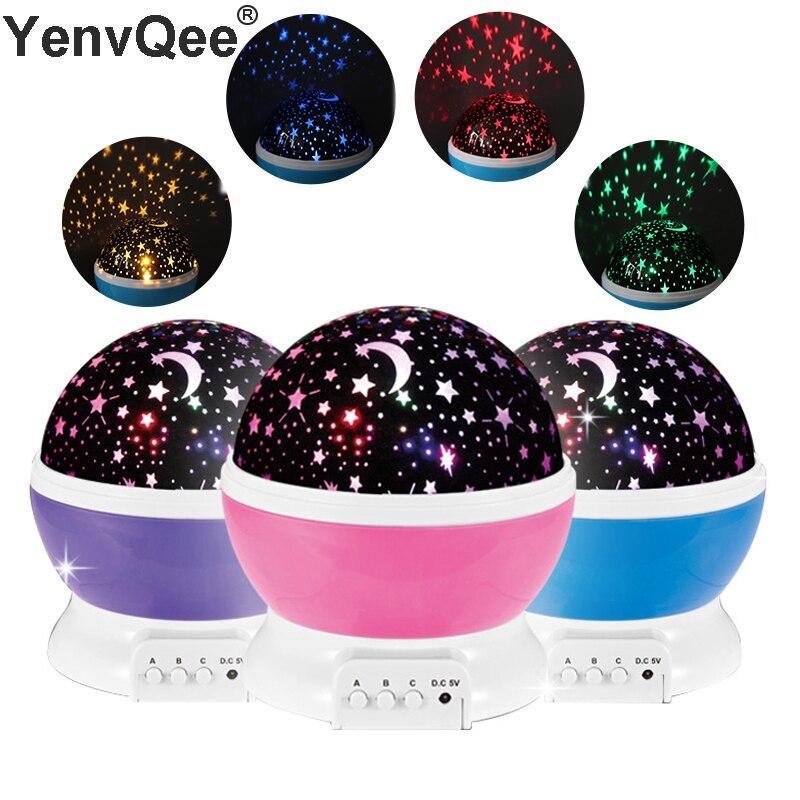 Novelty Luminous Light-Up Fun Toys Starry Sky LED Night Light Projector Baby Kids Room Sleep Lamp BirthdayXmas Gift For Child (1)