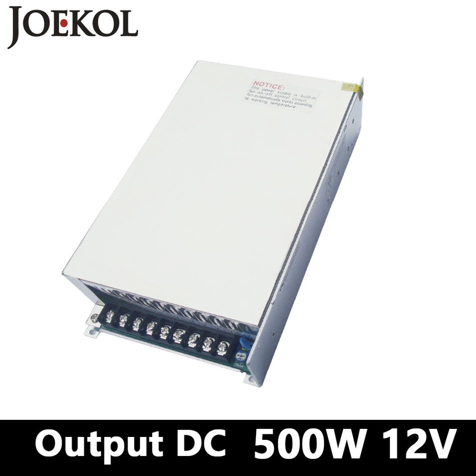 Switching Power Supply 500W 12v 42A,Single Output Dc Power Supply For Led Strip,AC110V/220V Transformer To DC 12V,led Driver dc power supply 12v 50a 600w led driver transformer ac110v 220v to12v dc power adapter for strip lamp cnc cctv