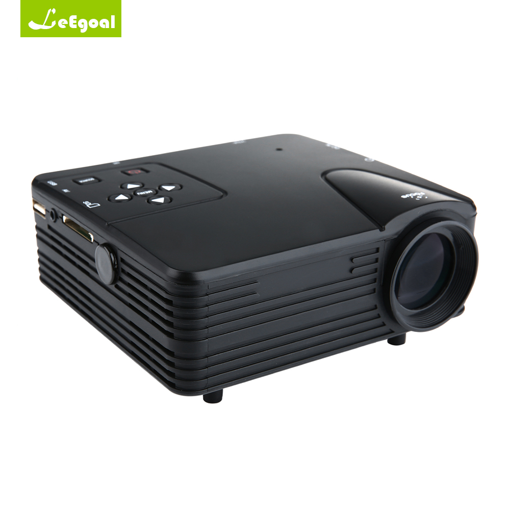 Leegoal h80 projector portable mini led home theater for Top rated mini projectors