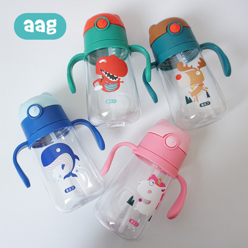 AAG Cartoon Animal Baby Water Bottle Cup Babies Silicone Feeding Pacifier Drinkware Single Layer Cup Heat resistant Plastic in Cups from Mother Kids