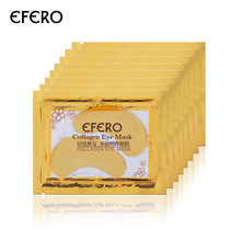 20pcs = 10pack EFERO Crystal Collagen Eye Mask Parches Ojos para el cuidado de los ojos Anti-Arrugas Dark Circle Gel Golden Mask para el cuidado de la cara