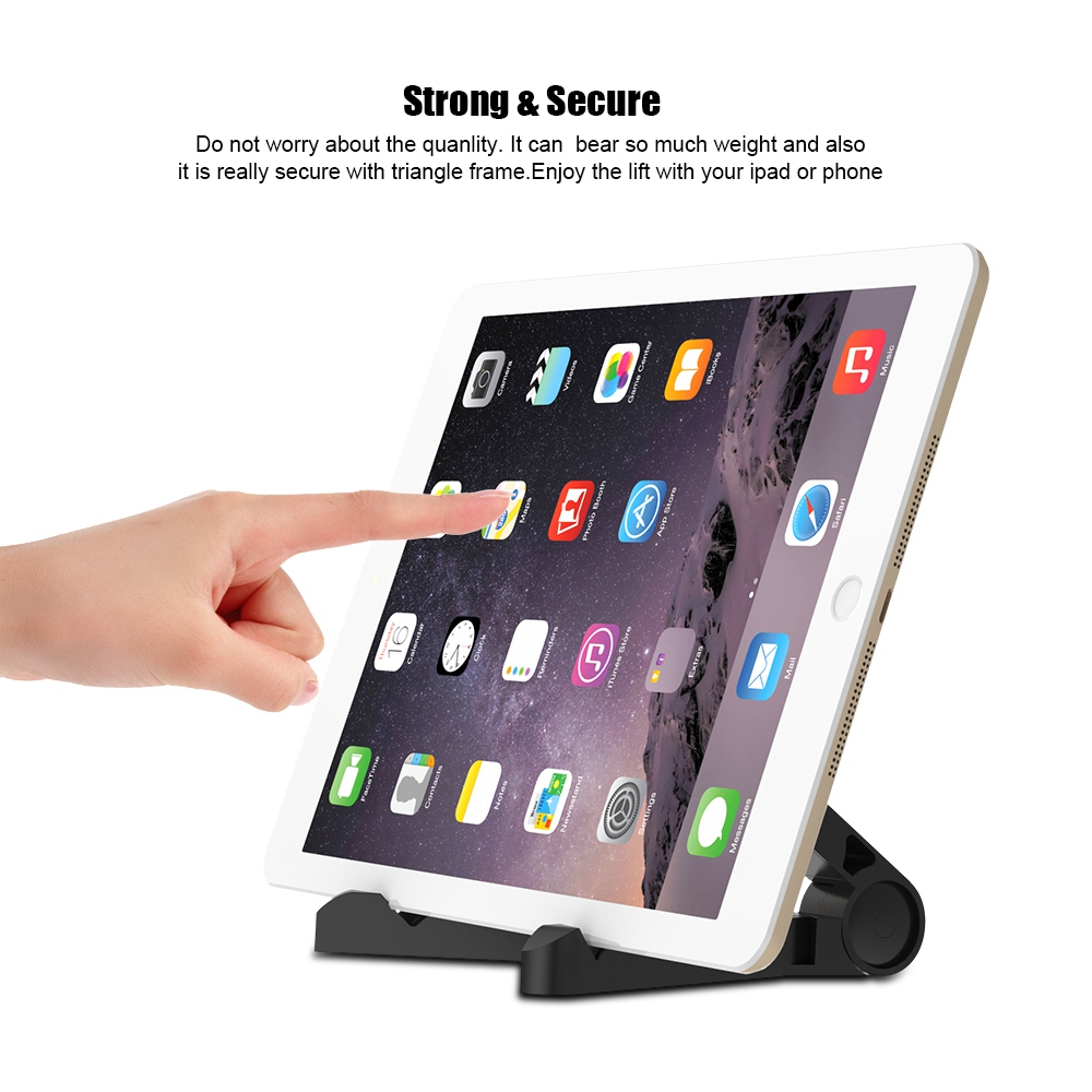 FLOVEME Tablet Holder For Apple iPad Pro 10.5 12.9 9.7 Air 1 2 mini 1 2 3 4 Foldable Desktop Stand For iPhone 7 6S 6 Holder
