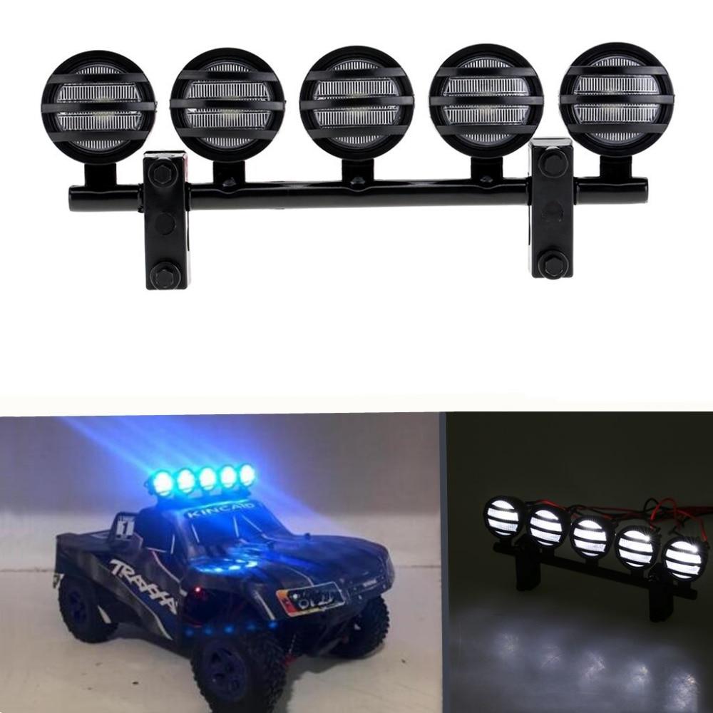 Multifunción LED Barra de luz para RC Car Crawler Traxxas TRX-4 TRX4 RC4WD D90 Axial SCX10 90046 Accesorios