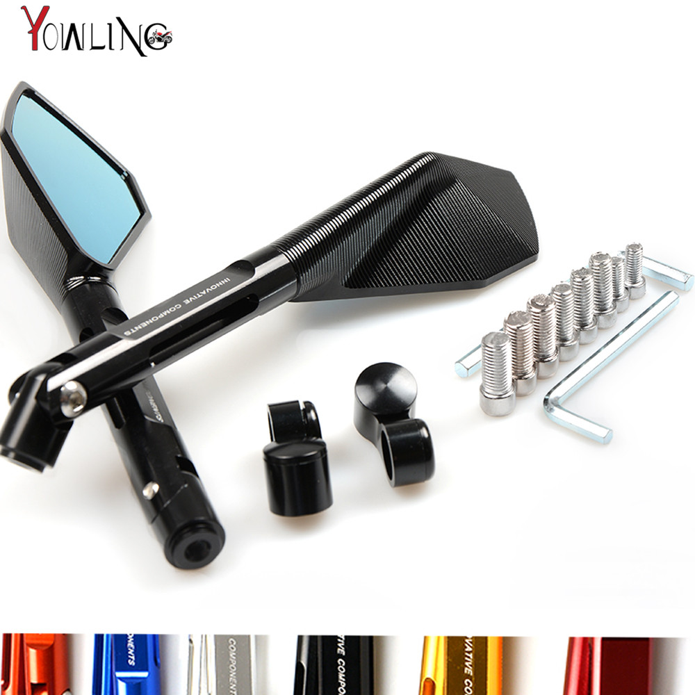 7/8 Universal Round Motorbike Motorcycle Handle Bar Rearview Side Mirrors For Yamaha MT-07 MT-09 MT 07 09 FZ-07 FZ1 FZ6 FZ8 for yamaha r1 r6 fz zuma motorcycle cruiser freeshipping silver carbon fiber rearview mirrors