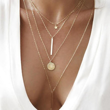 2019 Newest Fashion Accessories Gold Color Alloy Round Chain Necklace for Dress Up and Gift xz15(China)