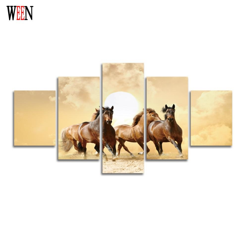 Animal Canvas Painting Hd Printed Horse Wall Home Decor
