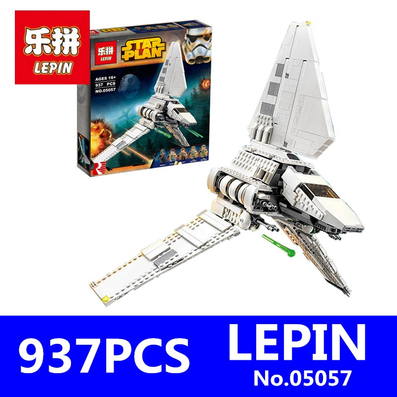 Star War Series LEPIN 05057 937Pcs Imperial Shuttle Tydirium Building Blocks Bricks Mini Assembled Children Toys Compatible Gift lepin 02012 city deepwater exploration vessel 60095 building blocks policeman toys children compatible with lego gift kid sets