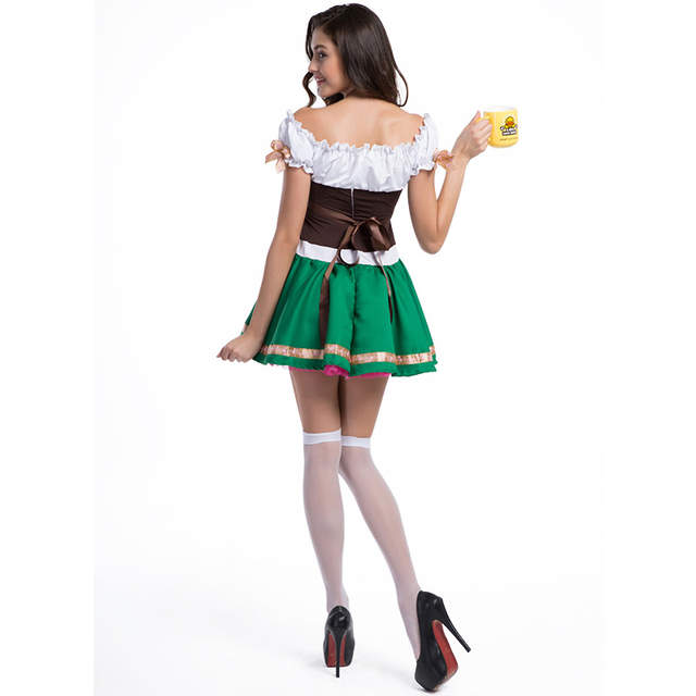 e96875ac79 Online Shop Halloween Cosplay Oktoberfest Costumes For Couple Traditional  German Bavarian Beer Festival Party Clothes Maid Waiter Costume