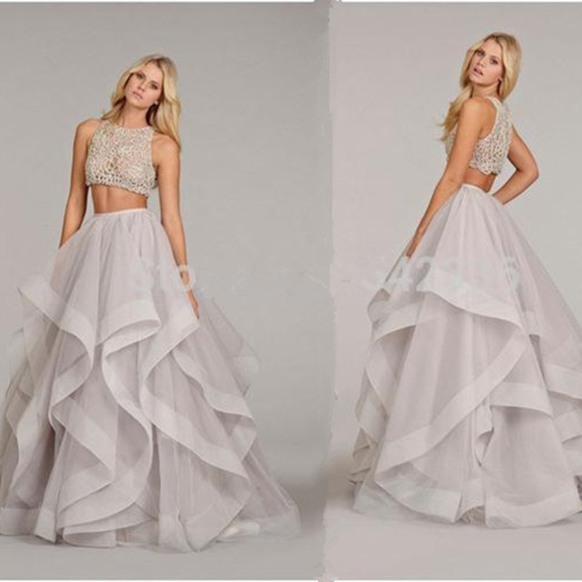 Two Piece Purple Wedding Dress See Through Corset Wedding Gown Sheer ...