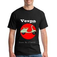 Gars Cool Personnalisé T-Shirt Hommes Vespa t chemises Classique Scooter moto Mens t shirts twin peaks 100% Coton T Chemises 2XL Taille