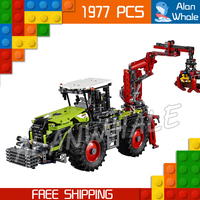 1977pcs 2in1 New Technic XERION 5000 TRAC VC 20009 DIY Model Building Kit Blocks Toys Power Functions Compatible With lego
