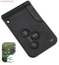 HXLIWLQLUCKY Automóveis Key FOB 3 Botão Transparente ForRENAULT Megane Cartão Chave Com Pcf7947 Chip Frete Grátis