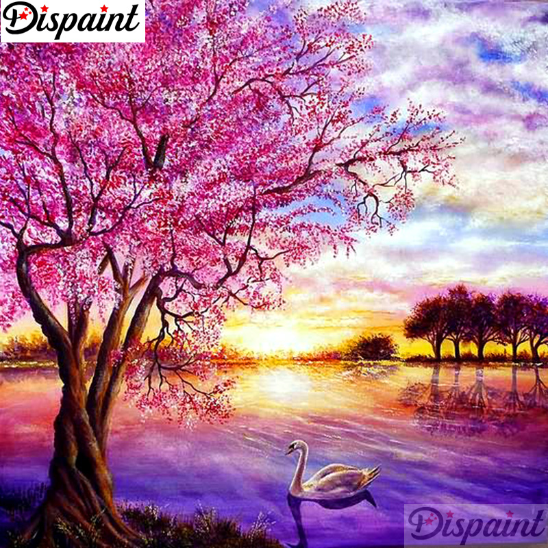 Dispaint Full Square Round Drill 5D DIY Diamond Painting quot Tree goose quot Embroidery Cross Stitch 3D Home Decor A11021 in Diamond Painting Cross Stitch from Home amp Garden