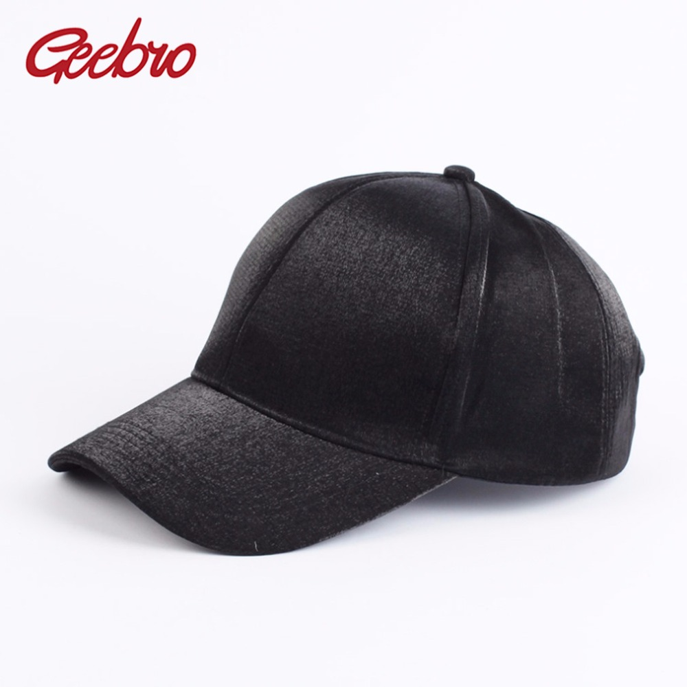 Geebro Summer New Baseball Cap For Men And Women Casual Polyester Snapback Cap Shine Baseball Caps Breathable Sun Caps GC315