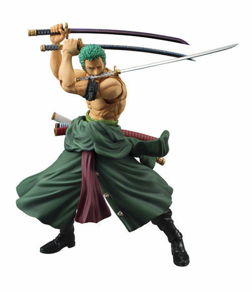 Anime One Piece MegaHouse Variable Action Heroes One Piece Roronoa Zoro PVC Action Figure Collectible Model Toys Brinquedos 19cm pvc japanese anime figure one piece luffy gear 4 ape king gun action figure collectible model toys brinquedos