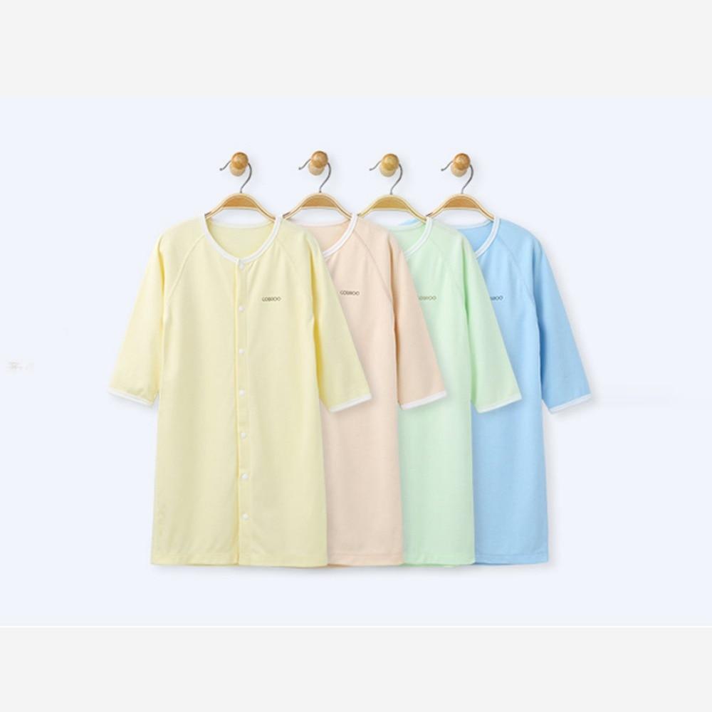 COBROO Baby Cotton Piżamy Bielizna nocna z zatrzaskiem Jednokolorowe - Odzież dla niemowląt - Zdjęcie 4