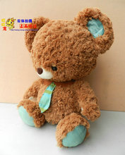 The lovely coffee teddy bear doll plush student  teddy bear toy with tie birthday gift about 65cm