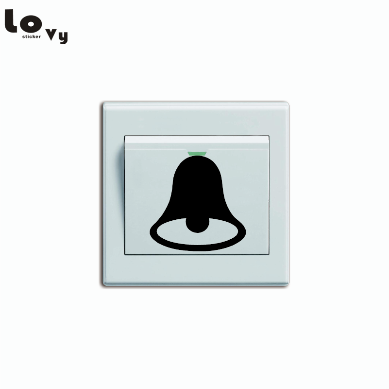 Merry Christmas Lovely Doorbell Switch Sticker Creative Cartoon Doorbell Vinyl Wall Sticker Home Decor