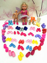 NEW Factory Wholesale 50Pairs lot Cute Kelly Doll Shoes Casual Shoes Boots Sandals Mini Doll Little