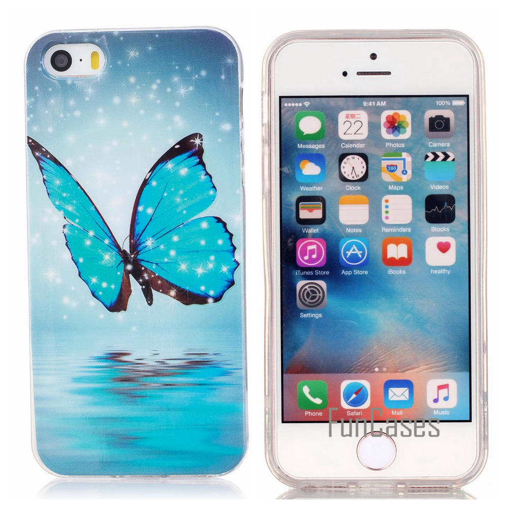 Luminous Case For coque iPhone 5s SE Case Silicone Cover For iPhone 5s 5 Case Cover phibe celulars aiphon handphone ipgone