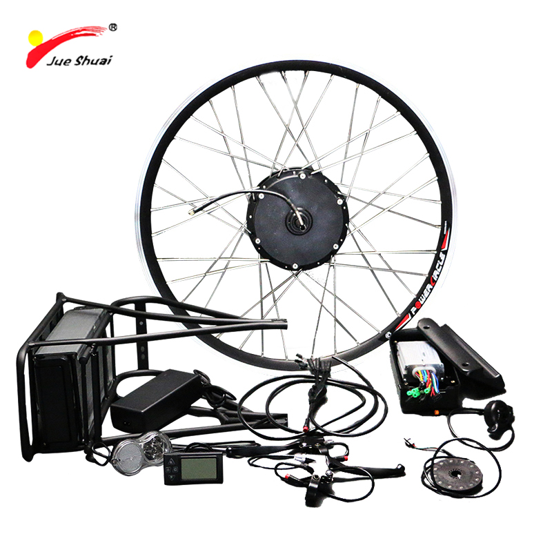 Free Shipping 26 700C Electric Wheel 36V 500W Electric Bike Conversion Kit with Lithium Battery LCD Electric Bike Bicycle Kit