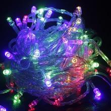 LED String Light 10M Waterproof 110V 220V 100 LED Holiday String Lighting 9 Colors font b