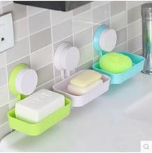 Powerful suction soap dish soap holder creative soap box soap holder Drain rack