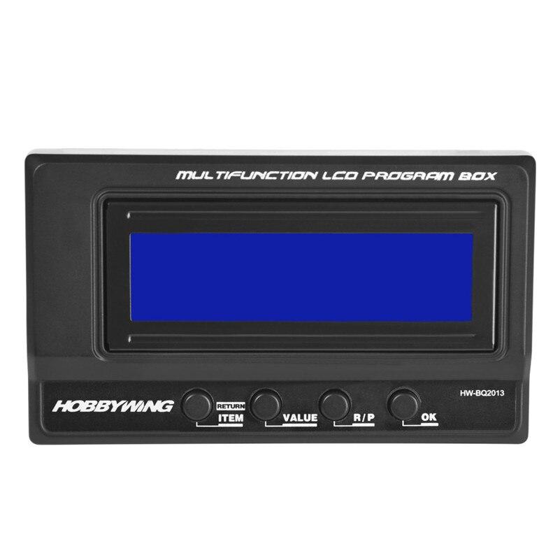 Hobbywing 3 en 1 professionnel multifonction LCD boîte de programme voiture RC # carte de programme D4
