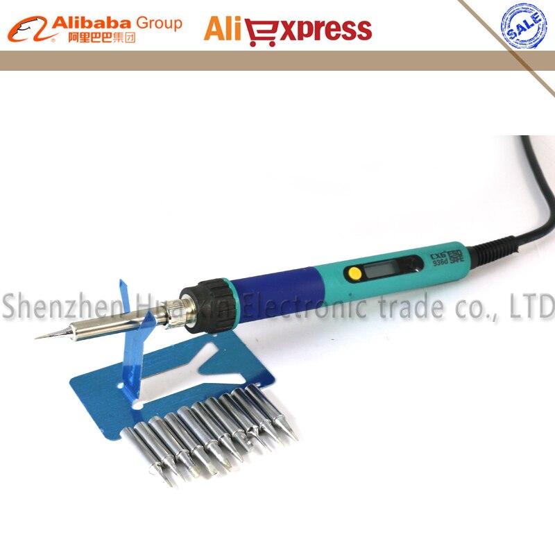 936d LCD temperatura ajustable Digital Estación de soldadura eléctrica enchufe UE + 10/PCS punta de soldadura reemplazar Estación de soldadura HAKKO 936