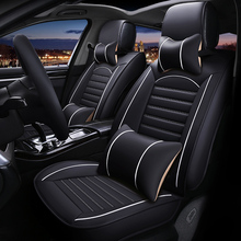 Leather Universal car seat cover for ateca leon Toledo exeo IBL arona all models accessories