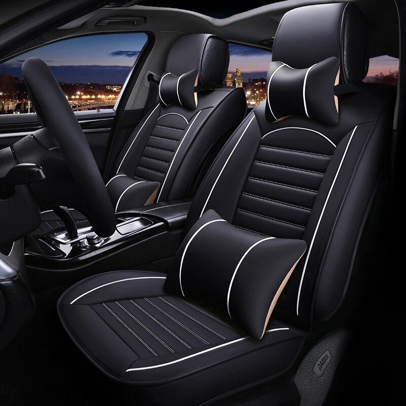 אביזרי רכב כיסוי מושב המכונית עור אוניברסלי עבור סובארו פורסטר XV אאוטבק Legacy אימפרזה כל אביזרי רכב סטיילינג המכונית מודלים (2)