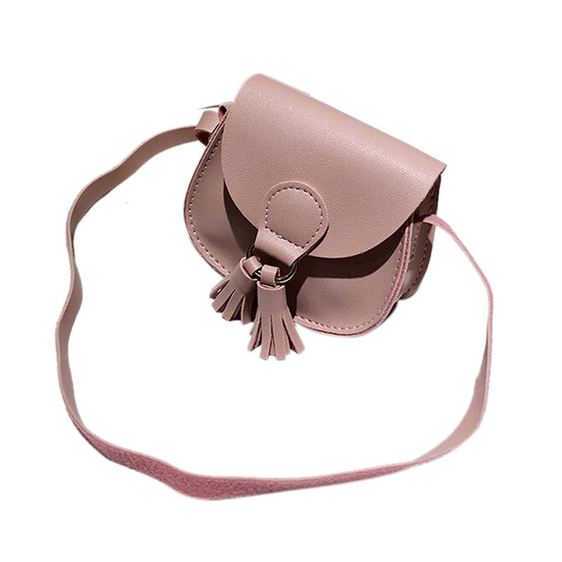 5703aaffa234 1PC Kids Girls Mini Coin Purse Cross Body Bag For Baby Girl Messenger bag  Clutch Bag PU Leather Tassel Shouler Bags 7Colors on Aliexpress.com
