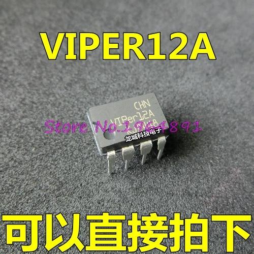 10pcs/lot VIPER12A VIPER 12A DIP-8 In Stock