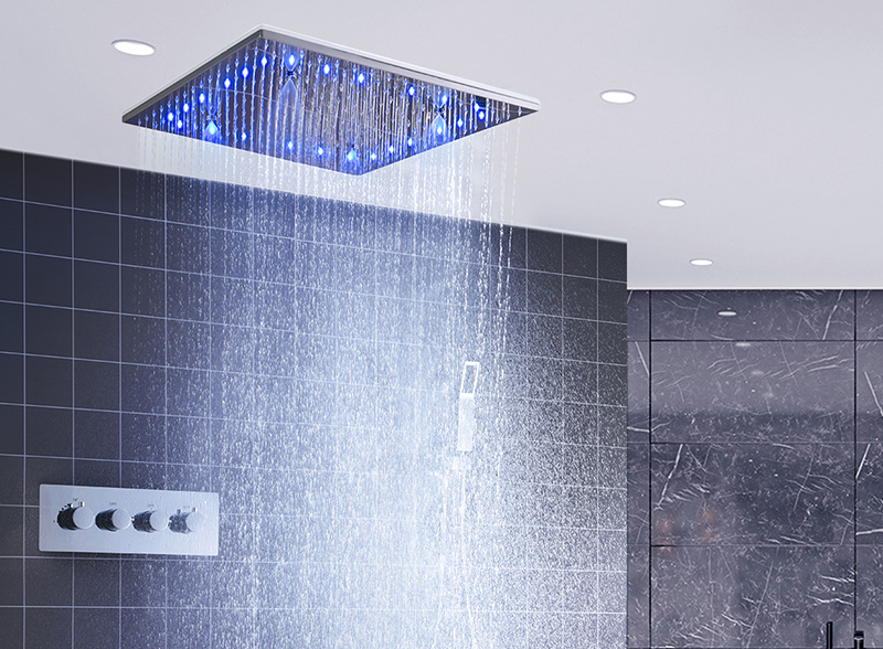 hm LED Ceiling Shower Set 20 Inch constant temperature Change Mist Rain Bathroom Shower Head Multiple Functions Shower Diverter (11)