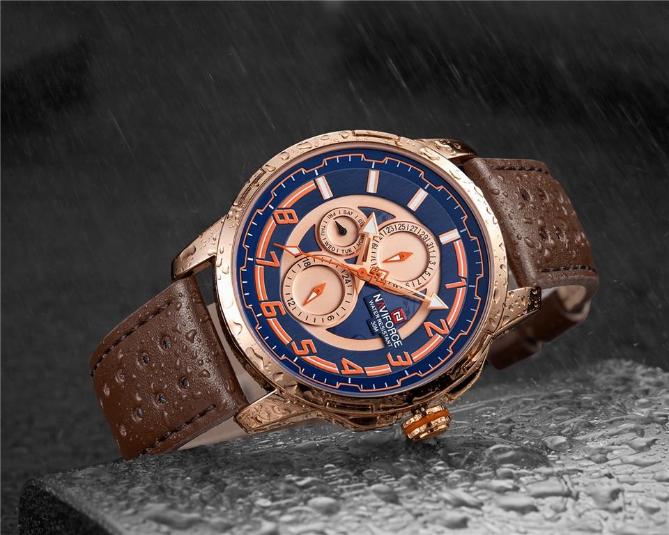 NAVIFORCE 9142 Genuine Leather Watch 8
